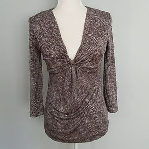 Tory Burch Silk Top Brown Size Small